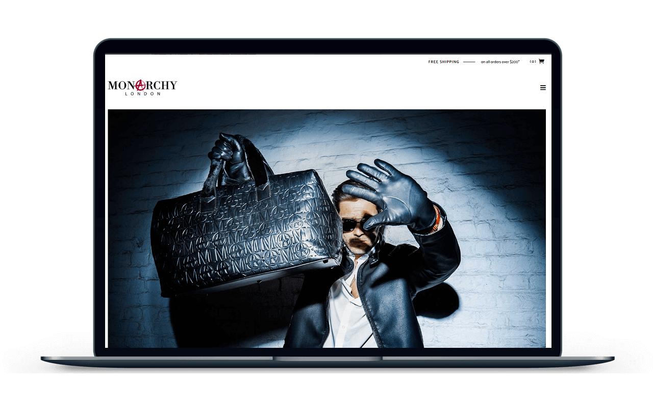 Monarchy London - Web Design & Development - KLASHTECH LLC