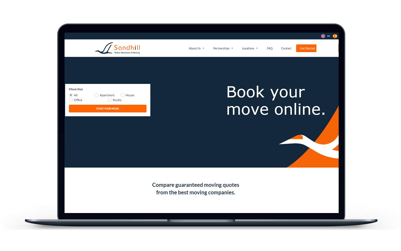 Sandhill Relocation - Web Design & Development - KLASHTECH LLC